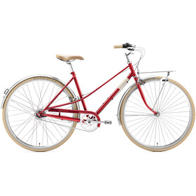 Creme Caferacer Uno 7-speed Dames, red